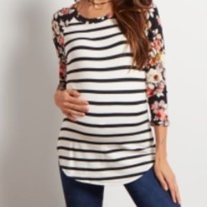 Pinkblush Tops - Pinkblush maternity floral long sleeve T-shirt